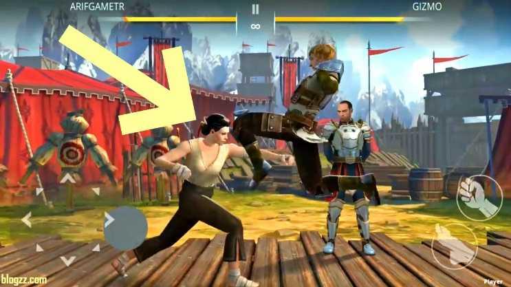 Sık sık diz atan kişiler Shadow Fight'ın dövüşmesi en zor kişileri oluyor genellikle.