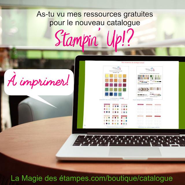 ressources à imprimer catalogue Stampin' Up! 2018-2019