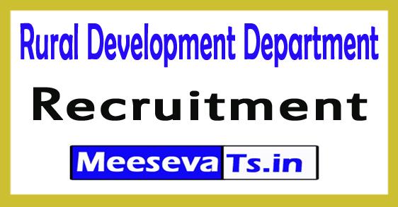Rural Development Department Recruitment 2017