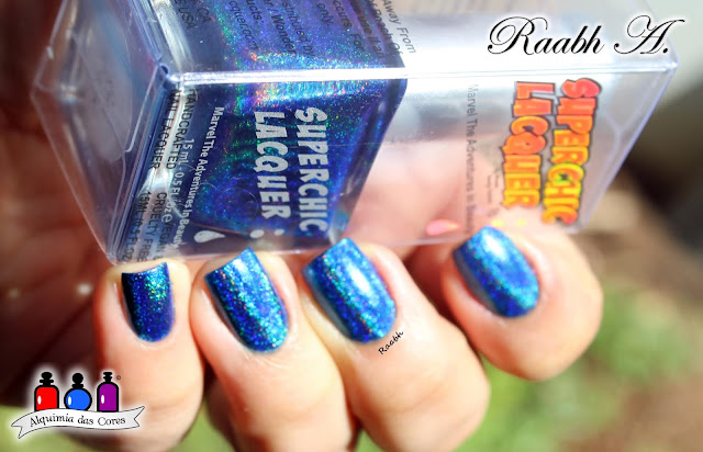Esmalte Holográfico, Superchic Lacquer Lucid La La Land, Superchic Lacquer Dreamology Collection, Azul, Raabh A. 2018