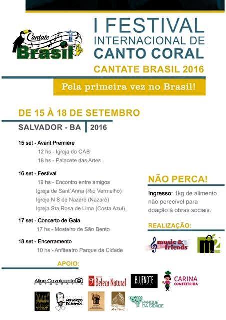 I Festival Internacional de Canto Coral - Cantate Brasil 2016