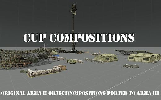 オブジェクト組みあわせのArma3用CUP Compositions アドオン