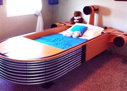 White Noise Landspeeder Bed