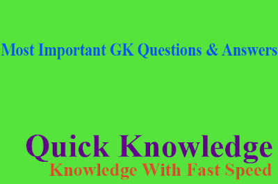 Most Important GK Questions & Answers