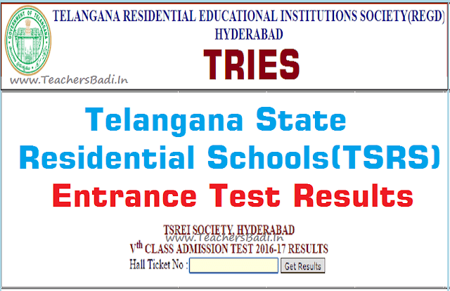 TSRS,5th class entrance test,results,tsrjdc.cgg.gov.in results