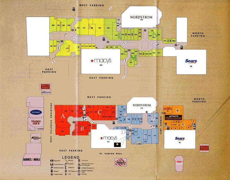 Hillsdale Mall San Mateo Directory | BIGMallrat - Shopping Malls in ...