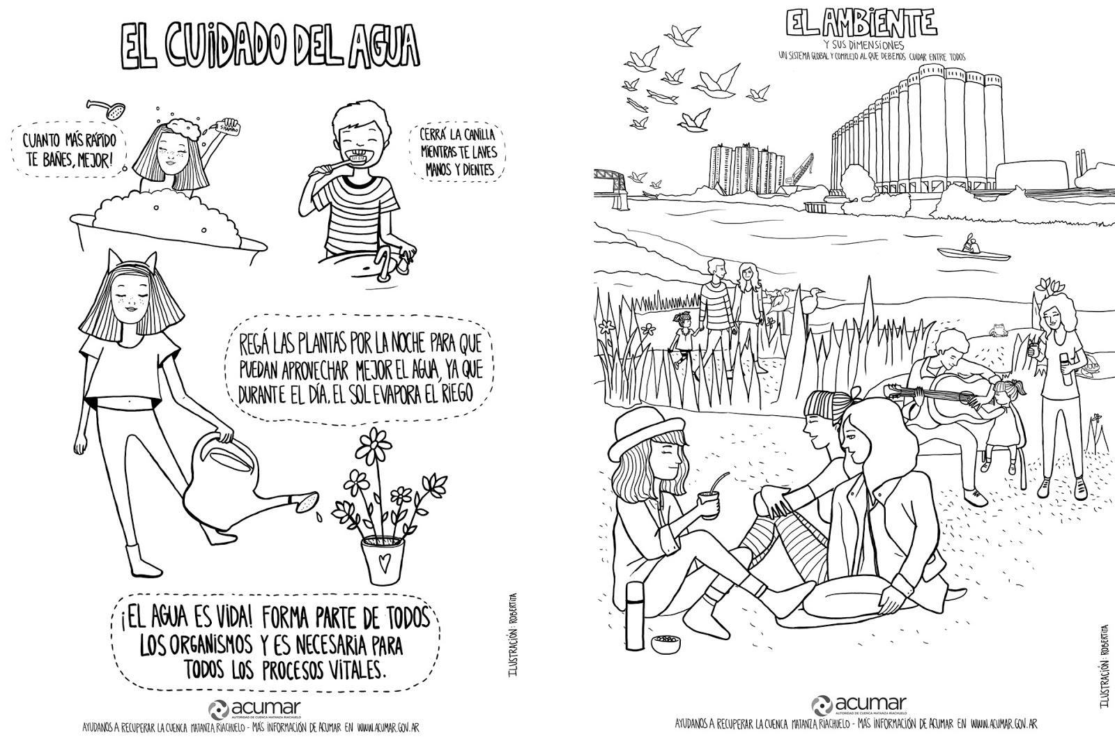 Robertita: Mapa ilustrado & Láminas para colorear para Acumar ...