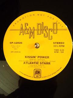 Kissing' Power / Atlantic Starr の12インチレコードです。
