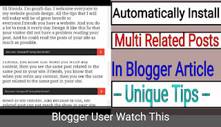 Install Multi Related Articles In Blogger Blog Post