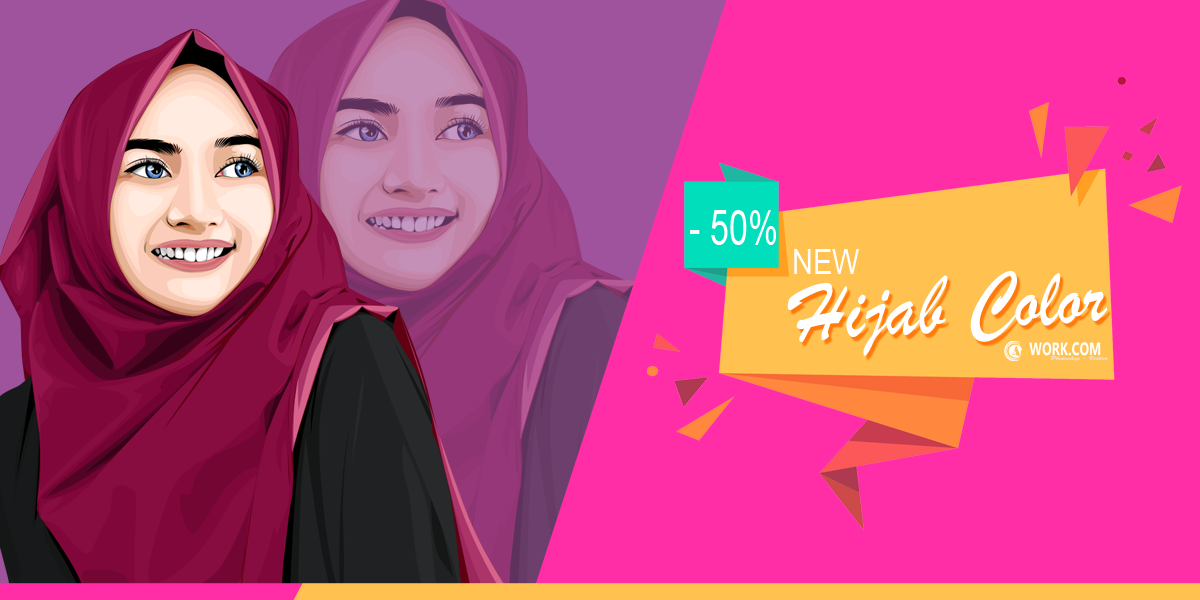How to Draw Hijab Photos With Vector Photo Style in Photoshop CS4