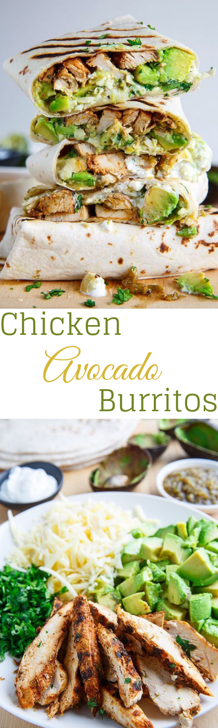 Chicken and Avocado Burritos #dinner #recipe