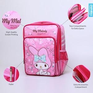 My Melody Sakura Dbl Bpc L - Tas sekolah Ransel anak