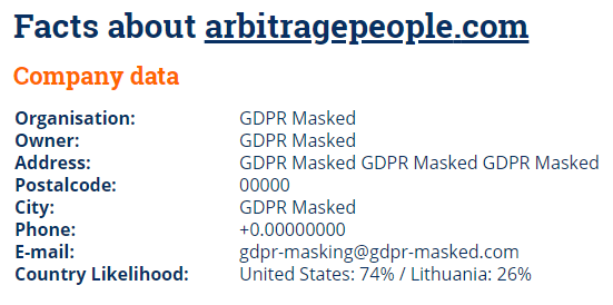 Arbitreagepeople website trusted or scamming