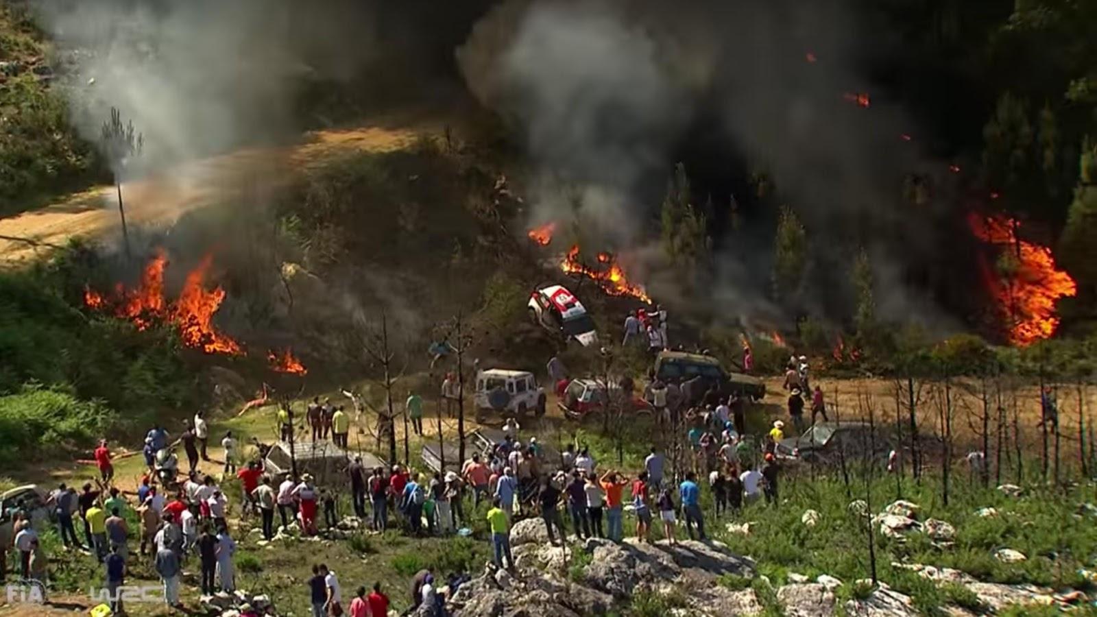 Giải đua đã tạm nghỉ...để chữa cháy rừng