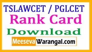 TSLAWCET 2017 / TSPGLCET-2017 Rank Card Download