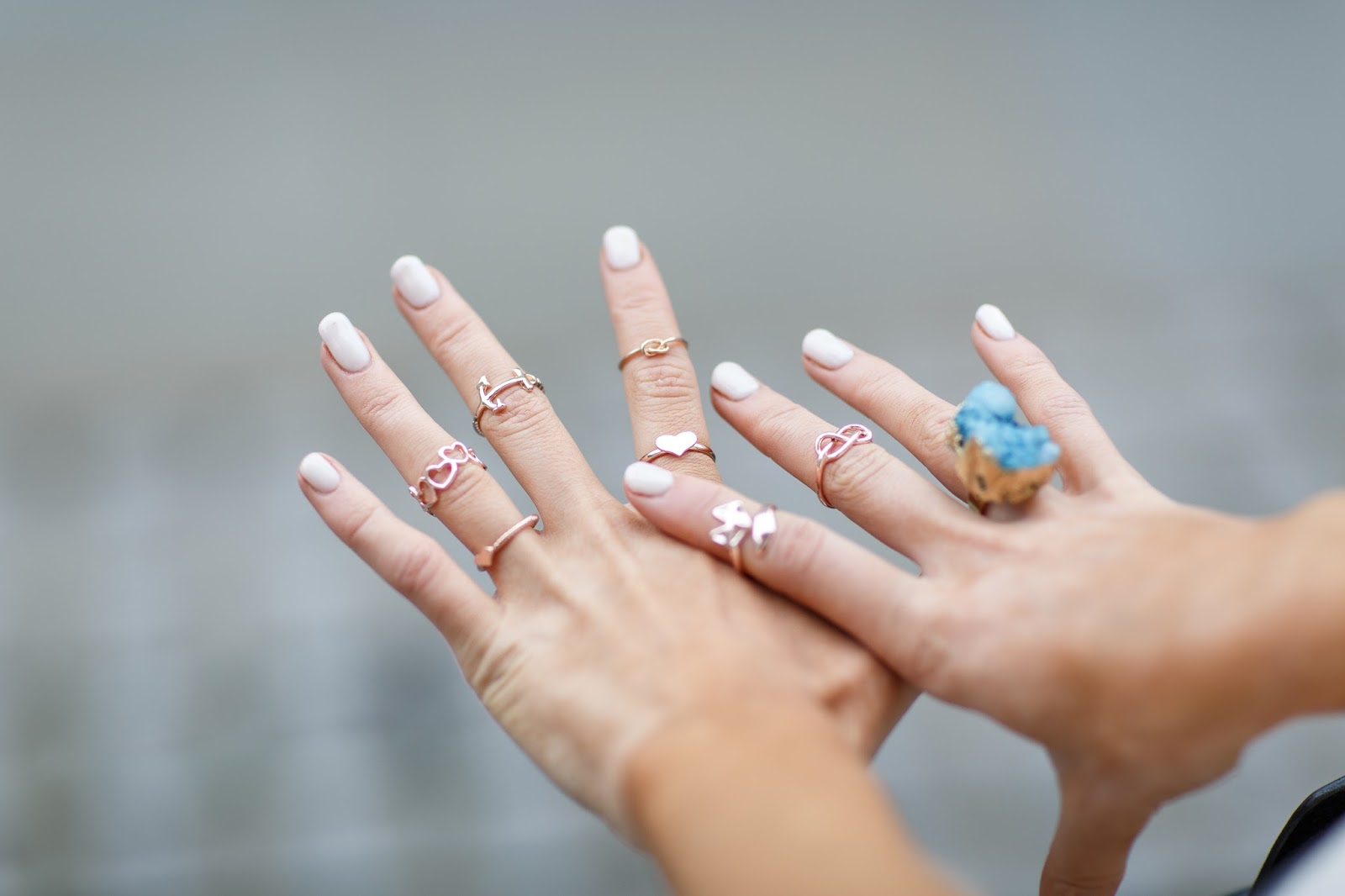 stacking rose gold rings