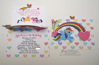 little pony invitations