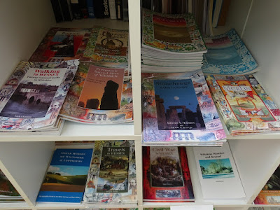 Books for sale at Calne Heritage Centre.