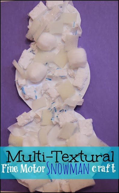 Winter Craft Activity for Preschoolers: Make a Snowman Craft and Work Fine Motor Skills into your Lesson Plan