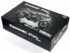 "In-Boxed: Meng Model's 1/9th scale Kawasaki Ninja H2 (""Pre-coloured"" Edition)"