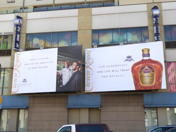 Crown Royal Whisky Live generously billboards