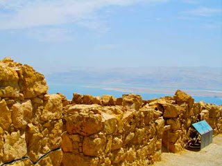 Wall Masada Dead Sea Background Israel