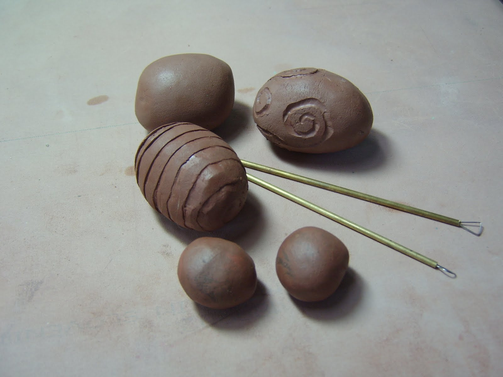 Hand Carved Hollow Beads 1