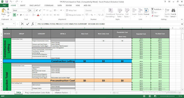 Free Total Project Cost Analysis Excel Template