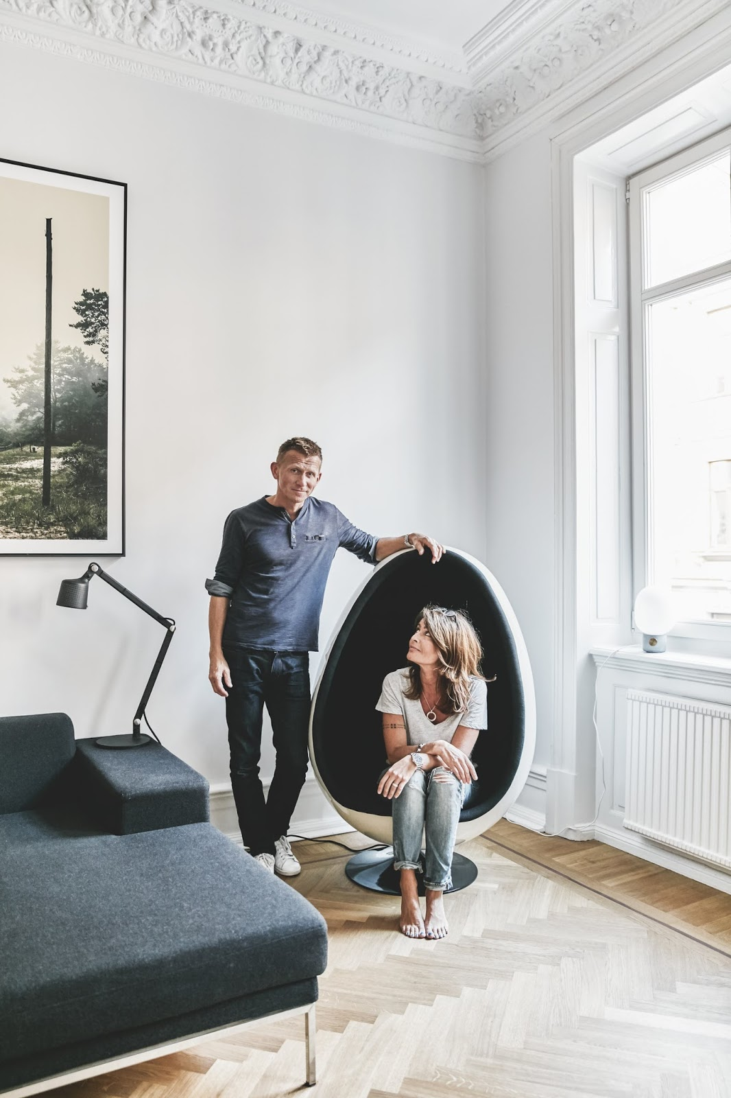 owners of a great scandinavian apartment