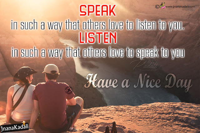 friendship value quotes, speak and listen value quotes in english, english life success thoughts