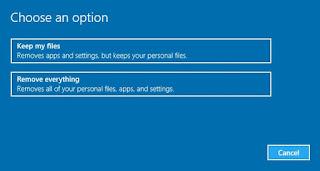 Mengembalikan Pengaturan Awal Windows 10