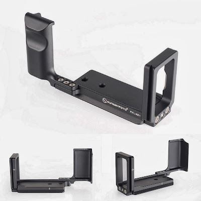 Sunwayfoto PFL-XE1 L bracket side-front back and side-back views