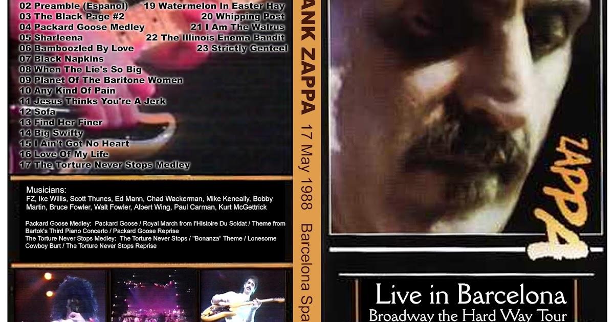 TUBE Frank Zappa 1988 05 17 Barcelona Spain  : zappabarcelona888uy from theultimatebootlegexperience7.blogspot.com size 1200 x 630 jpeg 174kB