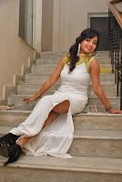Actress Ishita Latest Stills in White Long Dress at Ippatlo Ramudila Seethala Evaruntaarandi Babu movie Audio Launch  012.jpg