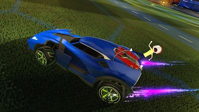 ריק ומורטי מגיעים אל Rocket League