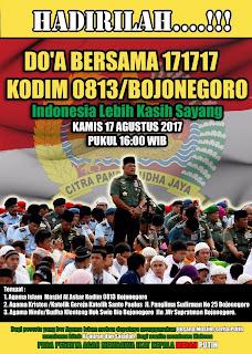 Kodim 0813/Bojonegoro Undang Masyarakat  Doa Bersama Untuk Kedamaian Negeri