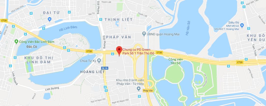 Vị trí dự án PD Trần Thủ Độ