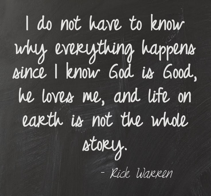 The Heart Know Who He Loves: I Do Not Have To Know Why Everything Happens Since I Know