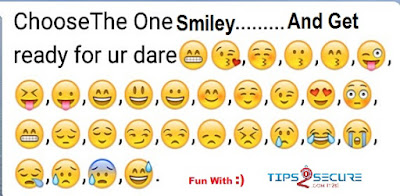 whatsapp smiley dare