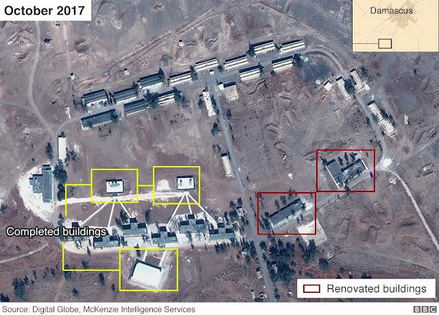 Imagens de satélite surgiram na sexta-feira mostrando o que parece ser um centro militar do regime iraniano em construção na Síria.