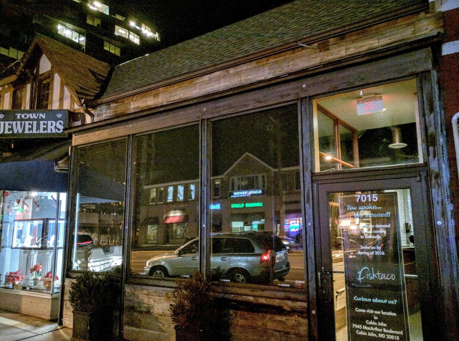 Robert dyer bethesda row city burger closes in bethesda for Fish taco bethesda