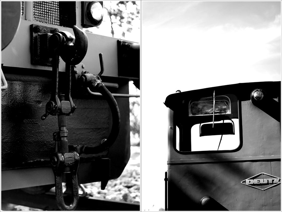 Blog + Fotografie by it's me! | fim.works | SchwarzWeissBlick No 14 | Deutz Lok Bj 1965 | Collage Details