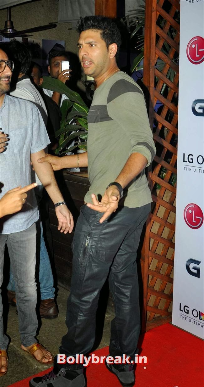 Yuvraj Singh, Celebs at LG G Flex Smartphone Launch