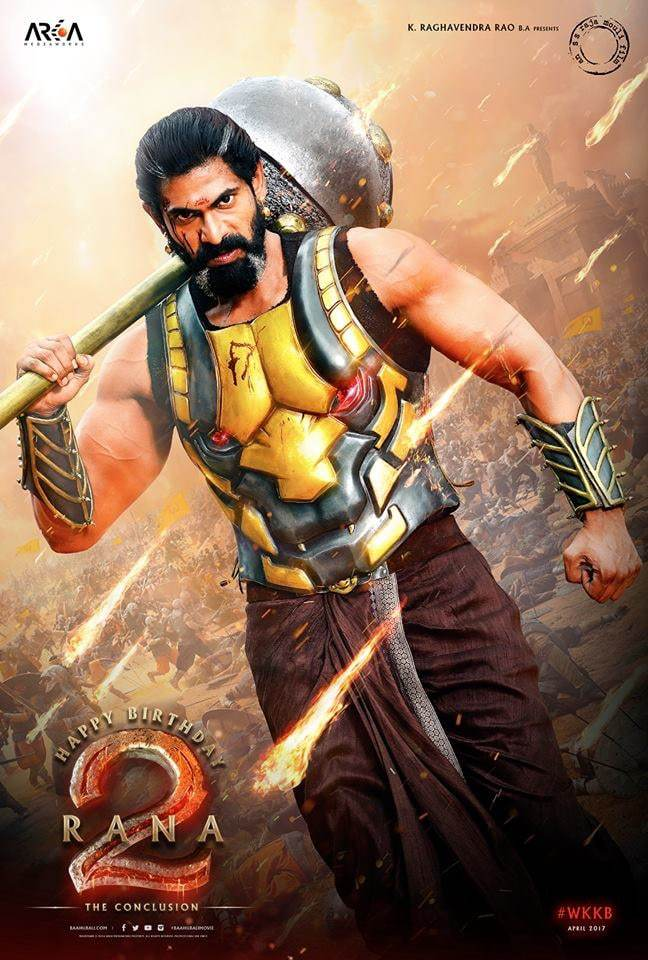 Rana First look in bahubali 2