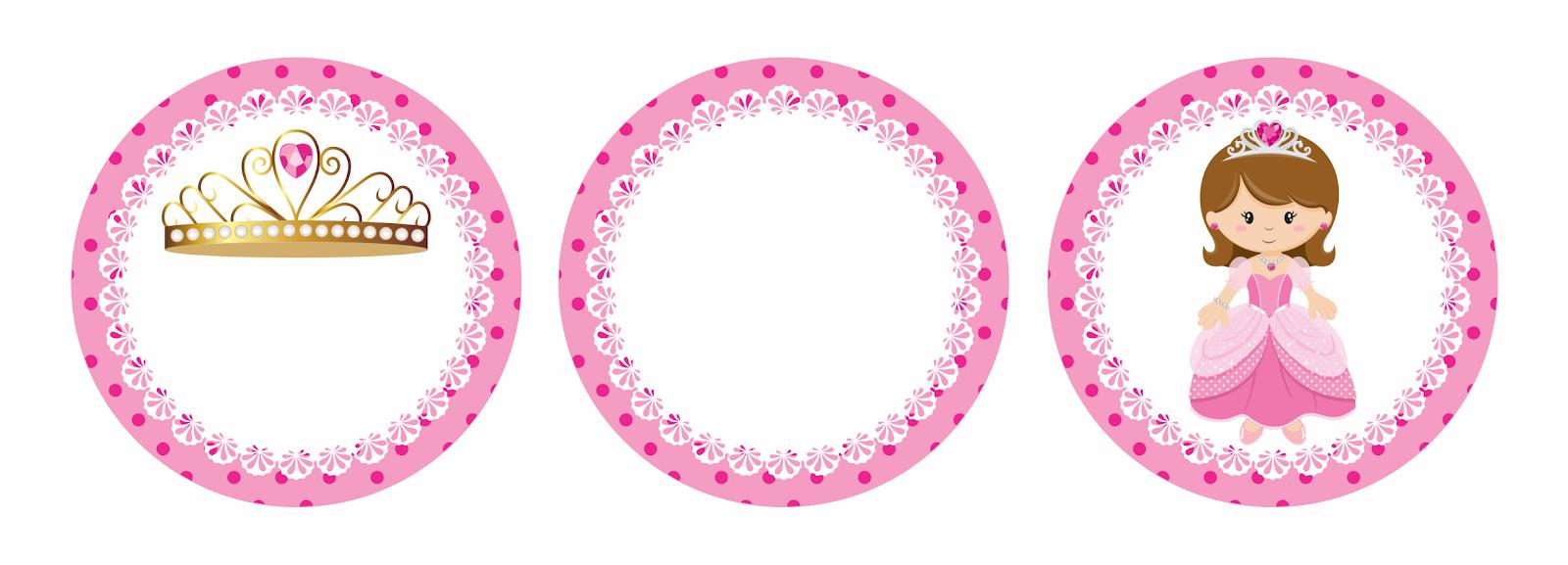 Princesa En Rosa Toppers Para Tartas Tortas Pasteles Bizcochos