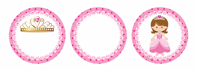 Princes in Pink Free Printable Cake Toppers.