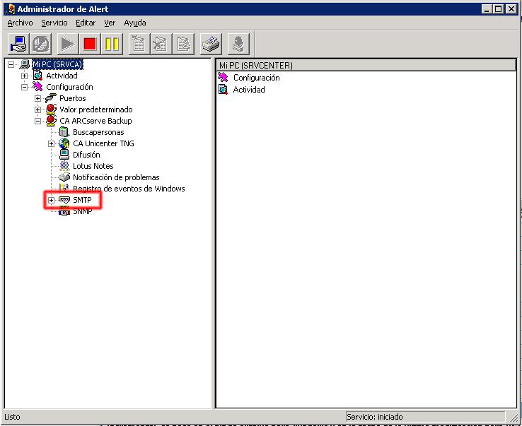 Configuración SMTP