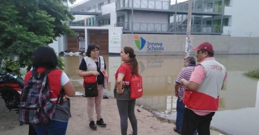 MINEDU anuncia suspensión de vacaciones útiles de colegios afectados por aniego en San Juan de Lurigancho - UGEL 05