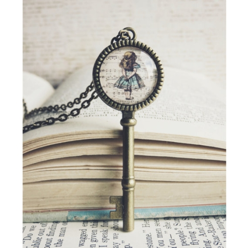 Alice in Wonderland Key Necklace