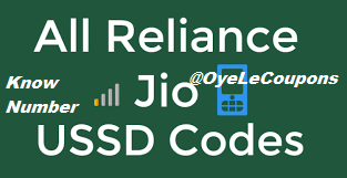Jio All Ussd Codes